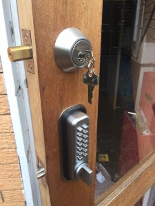 New Farm locksmith brisbane lock fitted to door with key and digilock
